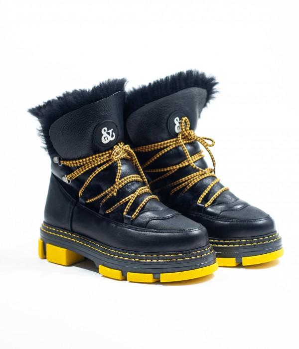 Ботинки кожаные