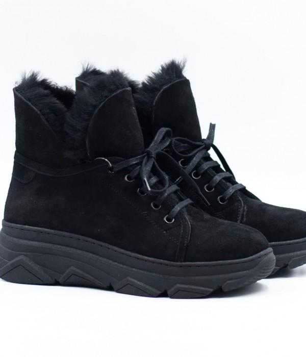 Зимние ботинки из кожи